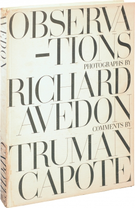 Observations (First Edition). Richard Avedon, Truman Capote, photographs, comments