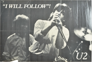 """I Will Follow"" / ""Boy"" double-sided U2 promotional poster (Original poster for U2's first US..."
