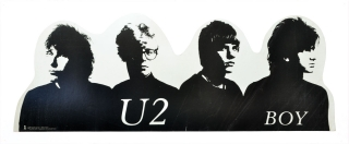 """Boy"" U2 promotional die-cut poster (Original poster for U2's debut 1980 album). U2, The Edge..."
