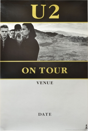 "Promotional poster blank for U2's ""The Joshua Tree"" tour (Original poster for U2's 1987 tour). U2, The Edge Bono, Jr, Larry Mullen, Adam Clayton."