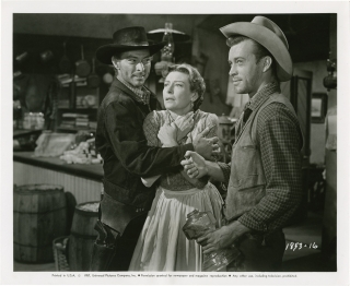 Day of the Badman [Day of the Bad Man] (Original photograph from the 1958 film). Harry Keller, Lawrence Roman, Joan Weldon Fred MacMurray, Robert Middleton, John Ericson, director, screenwriter, starring.