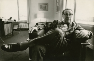 Photograph of author Georges Simenon (Original photograph by Pierre Vauthey circa 1980). Pierre...
