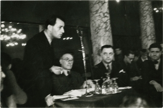 Andre Malraux and Andre Gide (Original photograph from a 1936 anti-fascist meeting). Andre...