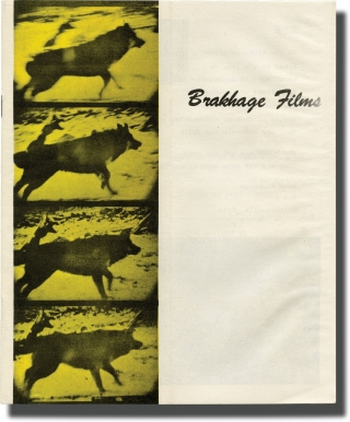 Brakhage Films (Original sales catalog for 1971). Stan Brakahge.