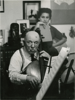 Pablo Casals (Original double weight photograph circa late-1950s). Pablo Casals, Helene Jeanbrau,...