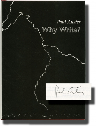 Why Write (Signed First Edition). Paul Auster