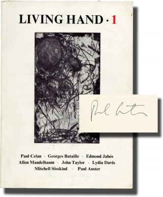 Living Hand 1, Fall 1973 (Signed by Paul Auster). Paul Auster, Mitchell Sisskind, Paul Celan...