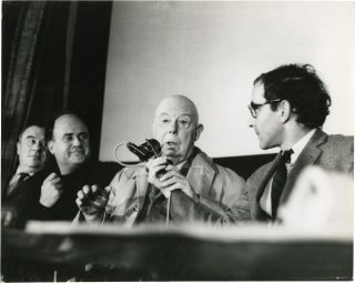 Original photograph of four French film directors, 1968: Jean-Luc Godard, Jean Renoir, Jean...