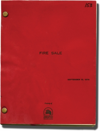 Fire Sale (Original screenplay for the 1977 film). Alan Arkin, Robert Klane, Vincent Gardenia Rob...