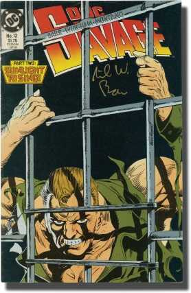 Doc Savage (Collection of 10 DC comic books, all signed by writer Mike W. Barr). Mike W. Barr,...