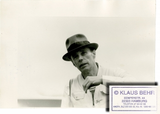 Joseph Beuys, 1982 (Original double weight photograph). Joseph Beuys, Klaus Behr, subject,...