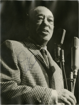 Photograph of Duke Ellington, signed. Duke Ellington, subject