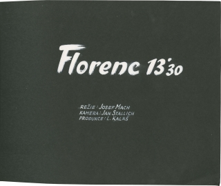 Florenc 13:30 (Original keybook for the 1957 film, with 119 photographs). Josef Mach, Miroslav...
