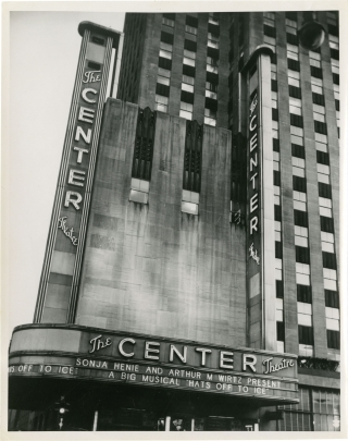 Archive of seven original photographs of the Center Theatre, New York City. Archive