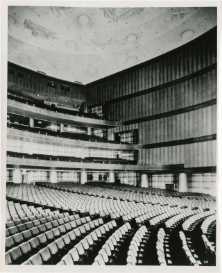 Archive of seven original photographs of the Center Theatre, New York City