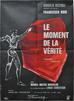 The Moment of Truth [Le moment de la verite] (Original French Moyenne poster for the 1965 film)....