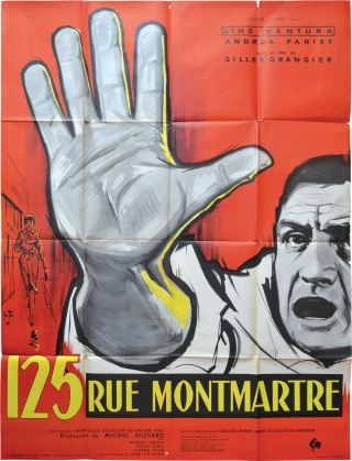 125 rue Montmartre (Original French poster for the 1959 film). Gilles Grangier, Jacques Robert...