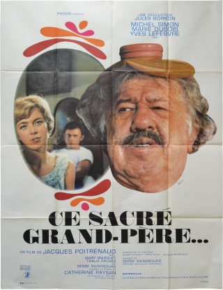 The Marriage Came Tumbling Down [Ce sacre grand-pere] (Original French poster for the 1968 film)....
