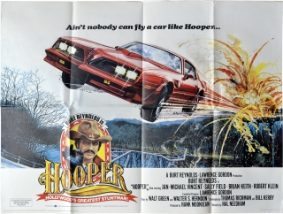 Hooper (Original British poster for the 1978 film). Hal Needham, Bill Kerby Thomas Rickman,...