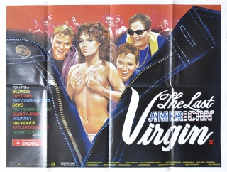 The Last American Virgin (Original British poster for the 1982 film). Boaz Davidson, Diane...