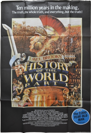 History of the World: Part I (Original British poster for the 1981 film). Mel Brooks, Dom DeLuise...