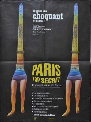 Paris Top Secret (Original French poster for the 1969 film). Pierre Roustand, Philippe Bouvard,...