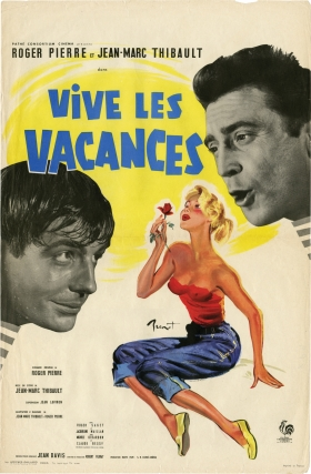 Vive les vacances (Original French poster for the 1958 film). Jean-Marc Thibault, Roger Pierre,...