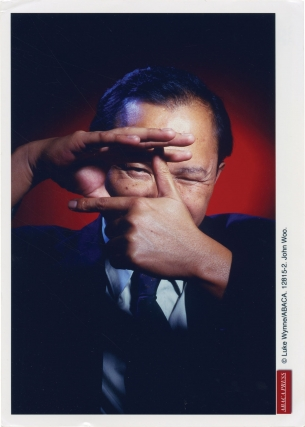Photograph of Hong Kong film director John Woo, circa 1985. John Woo, Luke Wynne, subject,...