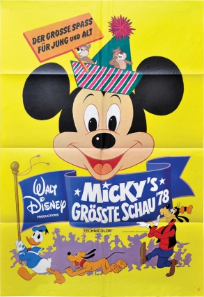 Mickey Mouse Jubilee Show [Micky's Grosste Schau '78] (Original German poster for the 1978 film)....