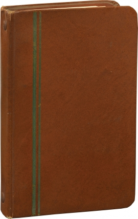 Notebook containing film strips, technical notes and tests results for film and camera settings,...