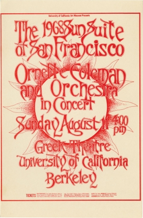 Ornette Coleman in Concert at The Greek Theatre, Berkeley, CA, August 11, 1968. Ornette Coleman,...