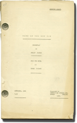 The Edgar Wallace Mystery Theatre: The Clue of the New Pin (Original screenplay for the 1960...