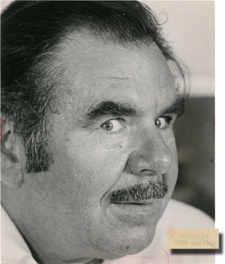 "Russ Meyer releases his ""Black Snake"" (Original press photograph for the 1973 film). Russ Meyer,..."