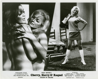 Cherry, Harry and Raquel (Collection of 9 original photographs from the 1970 film). Russ Meyer,...