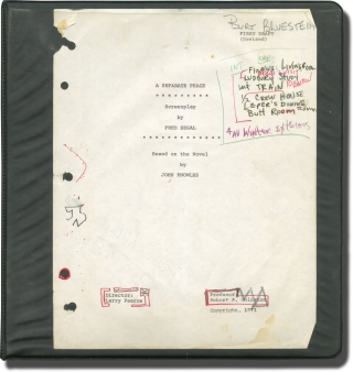 A Separate Peace (Original screenplay archive for the 1972 film). Larry Peerce, Fred Segal, John...