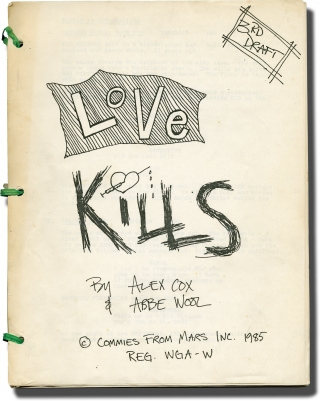 Sid and Nancy [Love Kills] (Original screenplay for the 1986 film, with lengthy inscription from...