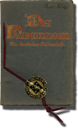 Die Nibelungen (Original program for the 1924 film). Fritz Lang, Thea von Harbou, Margarete Schon...