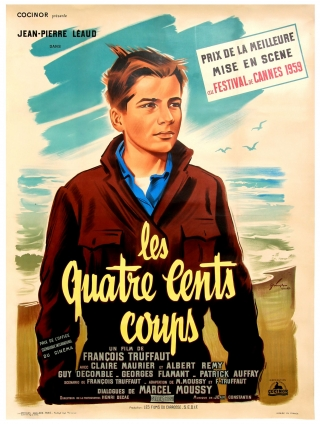 The 400 Blows (Original French poster for the 1959 film). Francois Truffaut, Marcel Moussy,...