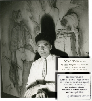 Jean Cocteau, 1934 (Original photograph on the set of La machine infernal). Jean Cocteau, Boris...