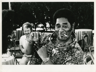 Original photograph of Dizzy Gillespie, circa 1975. Dizzy Gillespie, Giuseppe Pino, subject,...