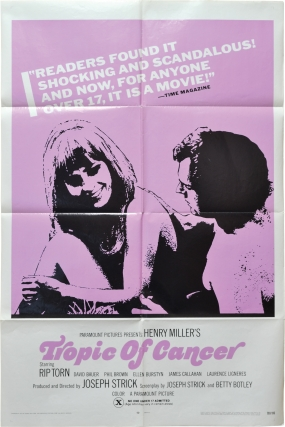 Tropic of Cancer (Original poster for the 1970 film). Henry Miller, Joseph Strick, Betty Botley,...