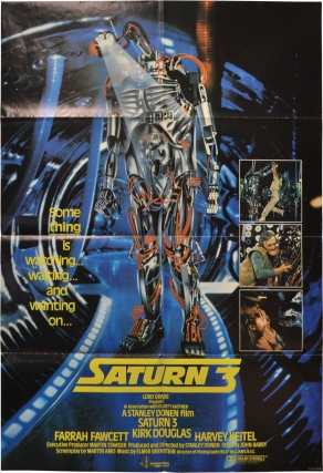 Saturn 3 (Original British poster for the 1980 film). Martin Amis, Stanley Donen, Kirk Douglas...
