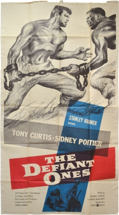 The Defiant Ones (Original poster for the 1958 film). Stanley Kramer, Harold Jacob Smith Nedrick...