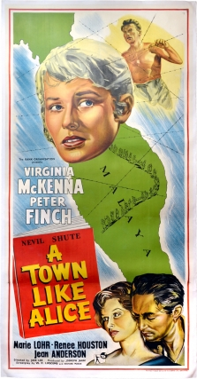 A Town Like Alice (Original UK three sheet poster for the 1956 film). Jack Lee, Nevil Shute,...