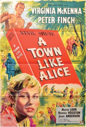 A Town Like Alice (Original UK one sheet poster for the 1956 film). Jack Lee, Nevil Shute,...