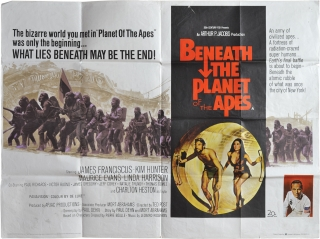 Beneath the Planet of the Apes (Original British poster for the 1970 film). Pierre Boulle, Ted...