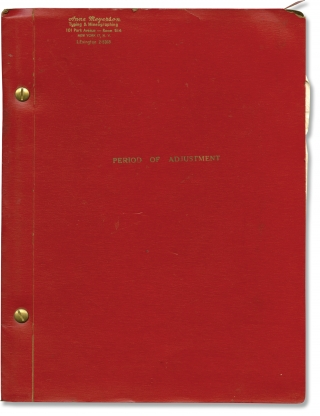 Period of Adjustment (Original script for the 1960 play). Tennessee Williams, playwright