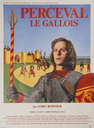Perceval [Perceval le Gallois] (Original French poster for the 1978 film). Eric Rohmer, Chretien...