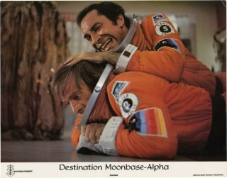 Destination Moonbase-Alpha (Collection of 7 British lobby cards for the 1978 film). Tom Clegg,...