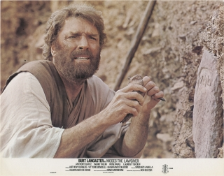 Moses the Lawgiver (Collection of 7 British lobby cards for the 1974 film). Gianfranco De Bosio,...